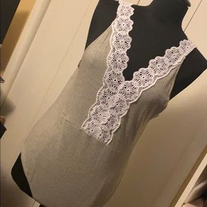 Cotton On Bodysuit with a lace v-neck | NEW|